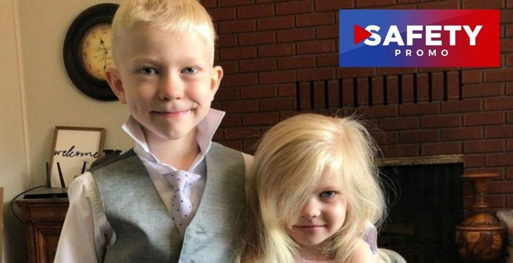 Un grand frère s'est interposé pour sauver la vie de sa petite sœur qui était en train de se faire attaquer par un chien. SAFETY PROMO